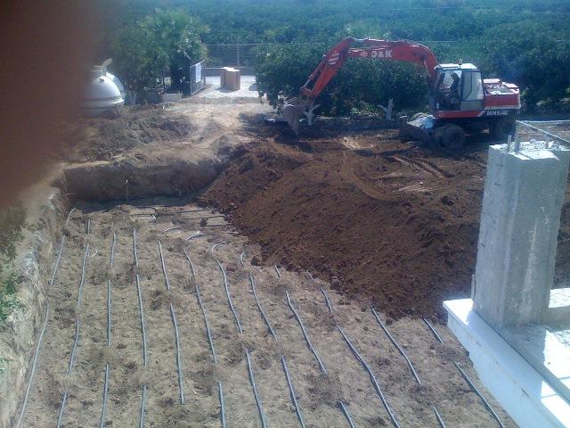Toprak kaynaklı ısı pompası yatay serme uygulaması